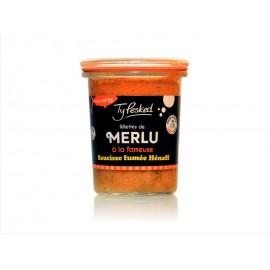Rillettes de merlu à la fameuse saucisse fumée Hénaff