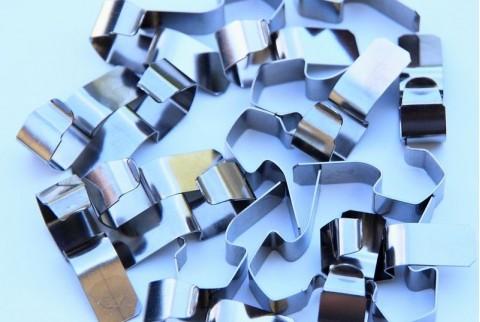 sachet de 20 clips de fermeture inox