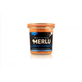 Rillettes de merlu aux olives noires bio
